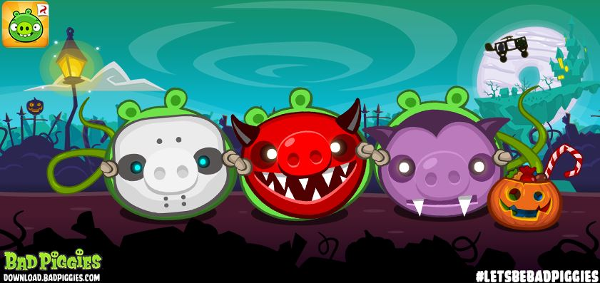Bad Piggies gets 30 new Halloween levels in the Tusk 'til Dawn update