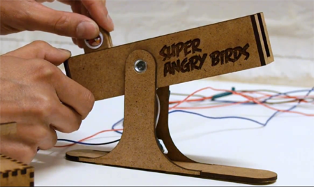 Students create custom slingshot controller for Angry Birds