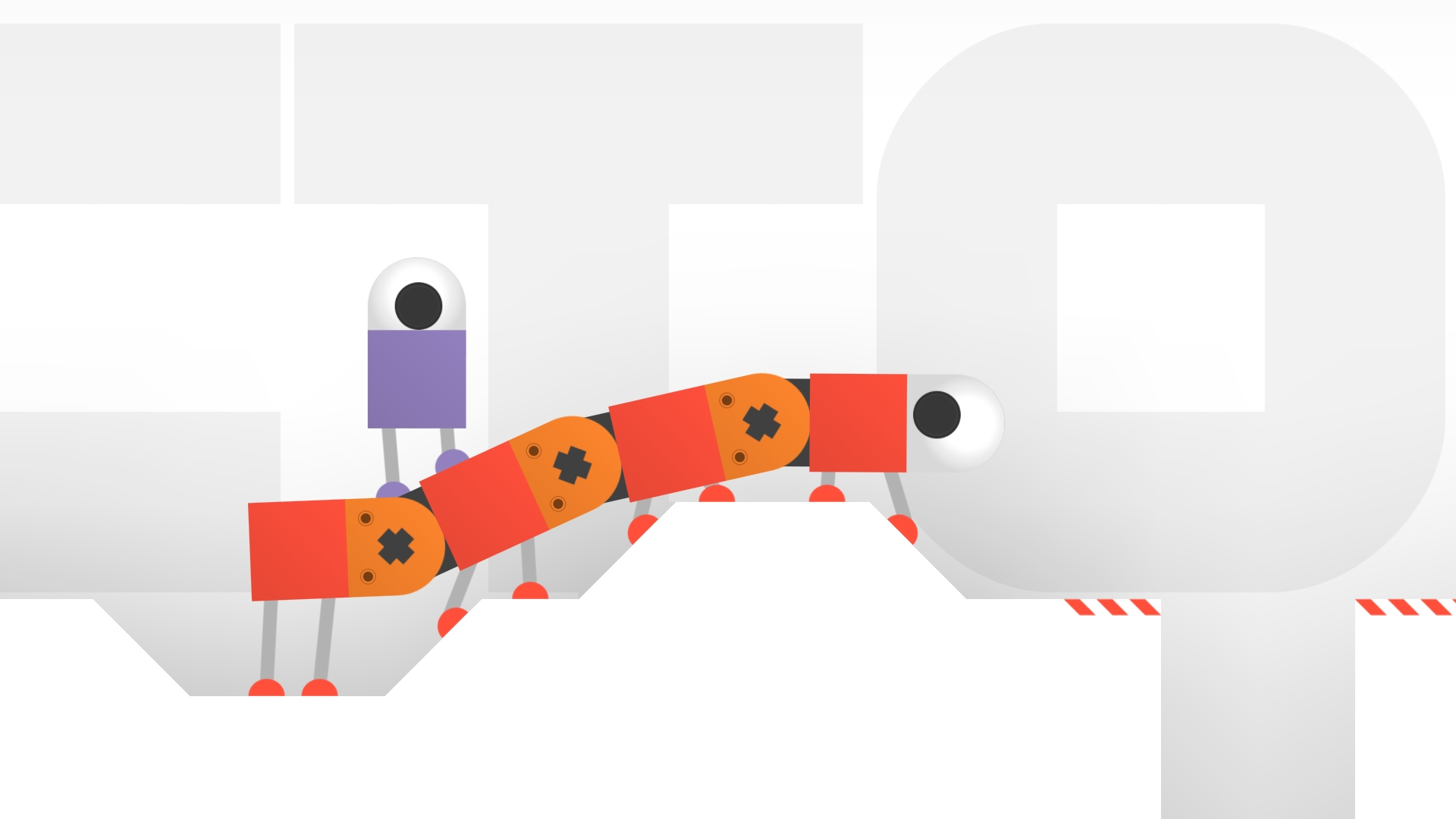 Help a cute robot ride mechanical caterpillars, walk up stairs in Odd Bot Out, out now