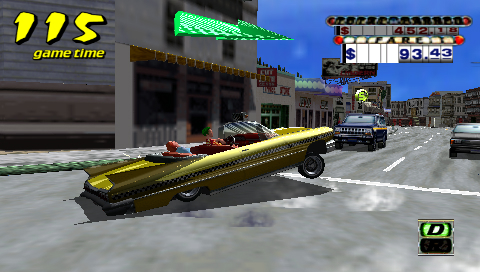 Crazy Taxi: Fare Wars PSP video finally turns up