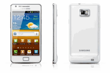 Vodafone first out of the gates in the UK with the white Samsung Galaxy S II