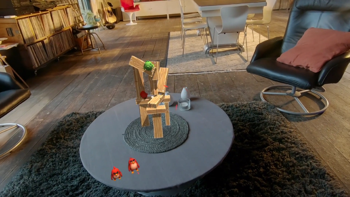 Angry Birds: First Person Slingshot is bringing the loveable birdies to your living room on Magic Leap One
