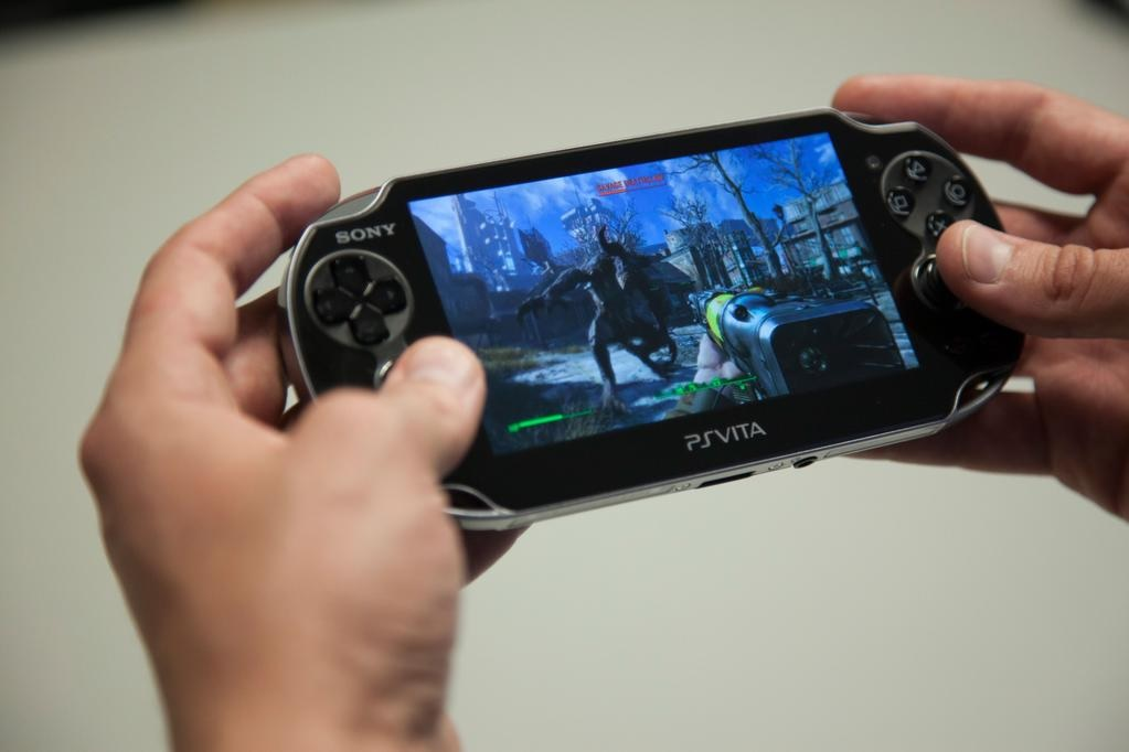 Have a look at the first image of Fallout 4 running on PS Vita