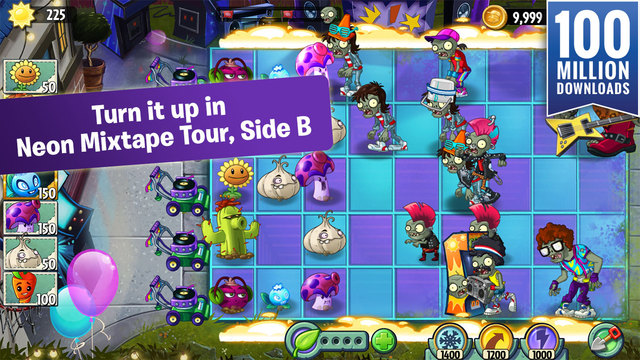 Plants vs. Zombies 2 takes you back to the '80s with its latest update