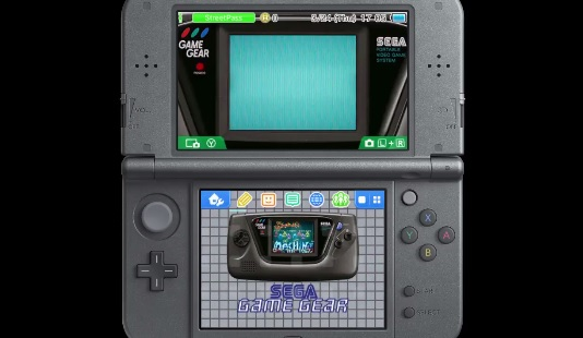 Looks like Sega is celebrating the Game Gear's 25th anniversary with a 3DS theme