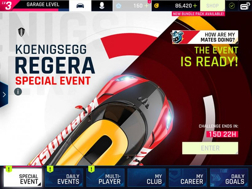 Asphalt 9: Legends - Full stats for Koenigsegg Regera and The Vencer Sarthe