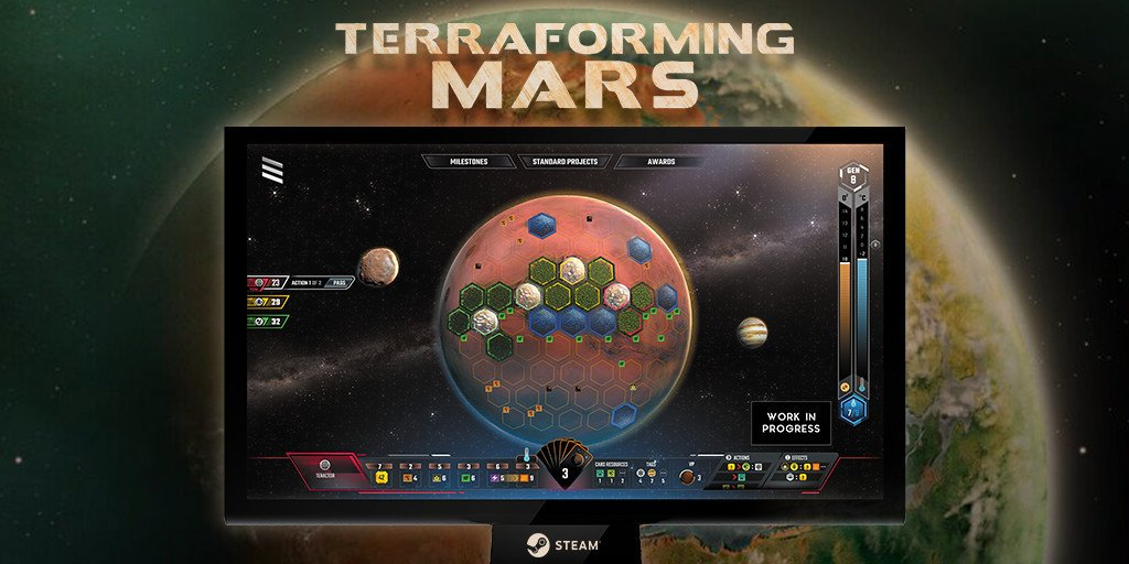 Don't go anywhere, we're live on Twitch with Terraforming Mars in less than an hour