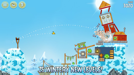 Angry Birds Seasons counts down to Christmas with 25 new wintry levels