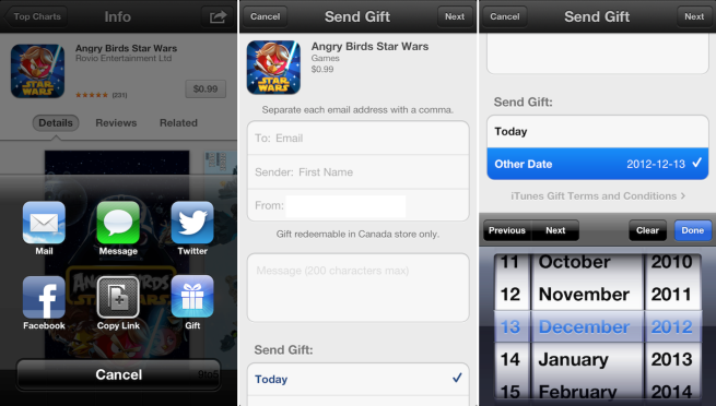 Apple dons Santa outfit and unwraps app-gifting service on iOS 6