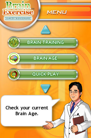 Brain Exercise with Dr Kawashima goes live on iPhone
