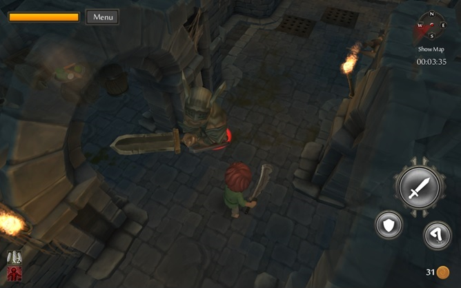 TinyKeep is a great looking 3D dungeon crawler for high powered Android devices