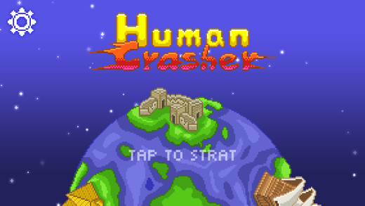 Abduct as many humans as possible in Human Crasher while dodging Earth's defenses