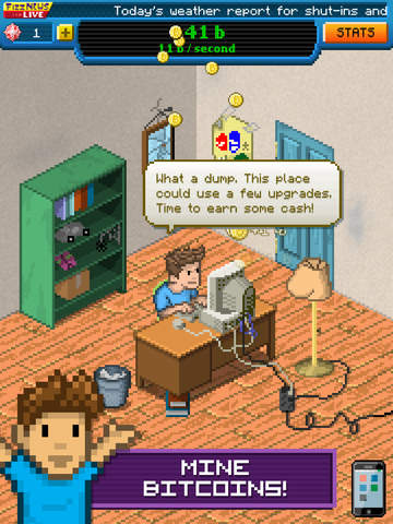 Out at midnight: Bitcoin Billionaire is Noodlecake's nerdy take on Make it Rain