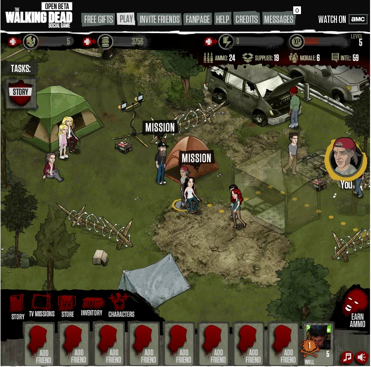 The Walking Dead Social Game is actually a pretty good tactical RPG