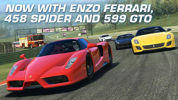 The Ferrari Secondo update for Real Racing 3 now is live for Android and iOS