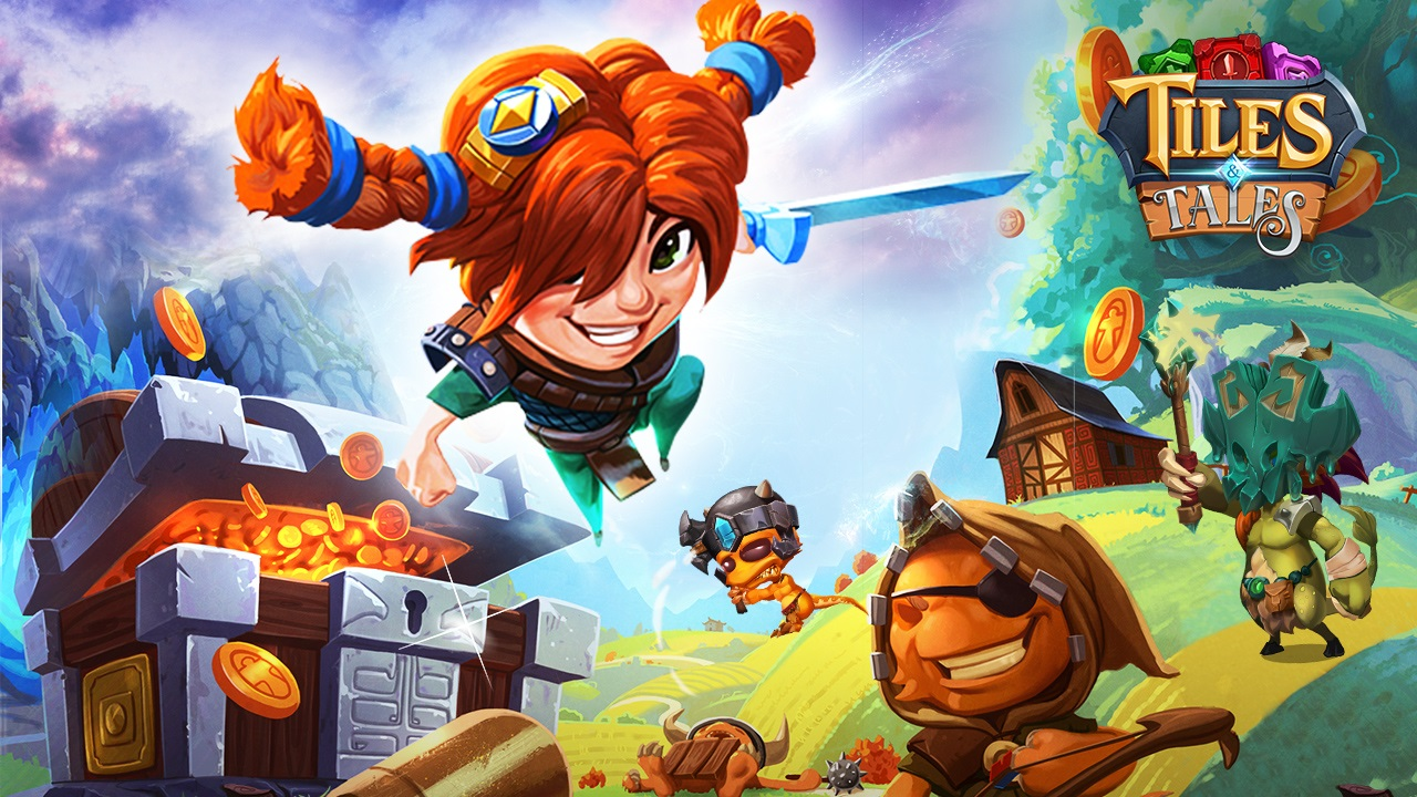 Swipe, stack, and attack in adventure puzzler Tiles & Tales on iOS and Android