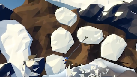 Swing up treacherous mountains in Hang Line, an upcoming physics-based climber