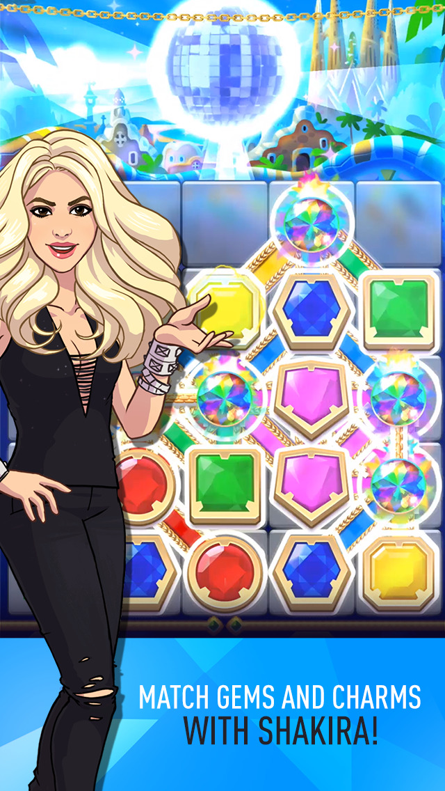 Out now: Love Rocks starring Shakira is a celeb tie-in match-stuff puzzler from Rovio