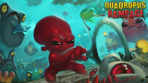Punch the god of sea square in the face in Butterscotch Shenanigans's endless roguelike Quadropus Rampage