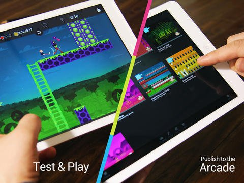 Pixel Press Floors lets you draw out and design your own iPad games with a series of symbols