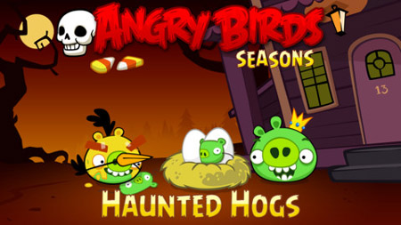 Face vampire pigs and Frankenswine in Angry Birds Seasons Halloween update