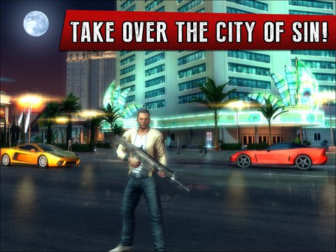 Gameloft's open-world crime epic Gangstar Vegas is now available on the App Store