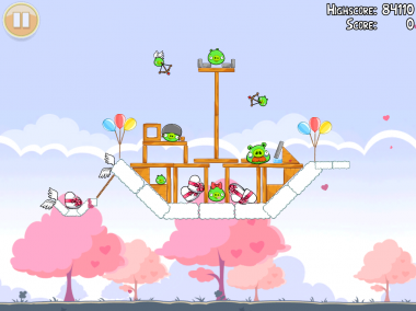 Angry Birds Seasons: Hogs and Kisses 3-star video walkthrough