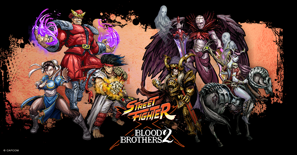 Street Fighter characters invade DeNA's strategy-RPG Blood Brothers 2 on December 3rd
