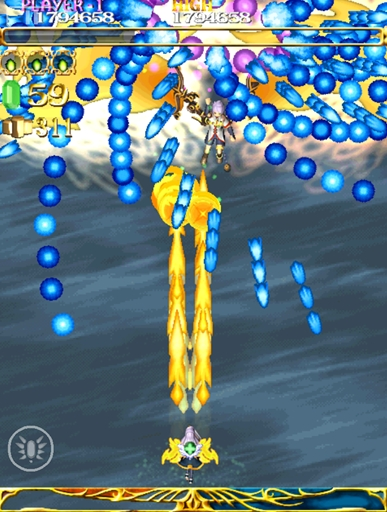 Welcome to bullet-hell: DoDonPachi Resurrection and Espgaluda II now available for Android in English