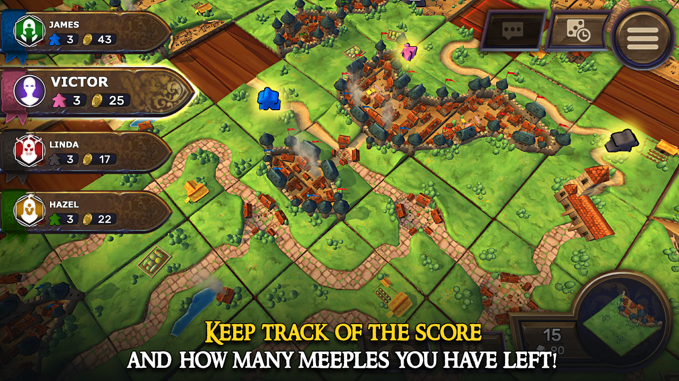 A new version of Carcassone is out now for Steam and Android