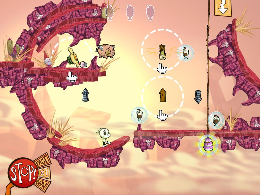Eets Munchies is a gorgeous-looking cake-gobbling iOS physics-puzzler from Klei