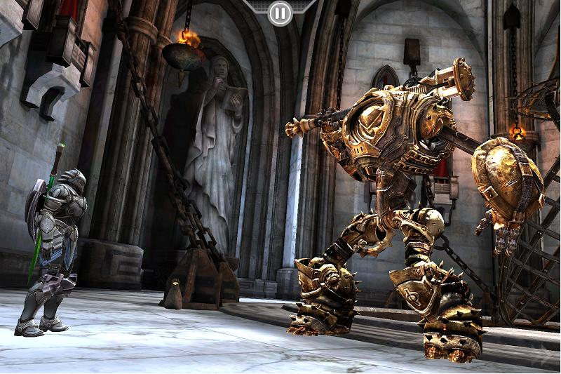 It's no joke. Infinity Blade cut down to 99c/69p for a limited time