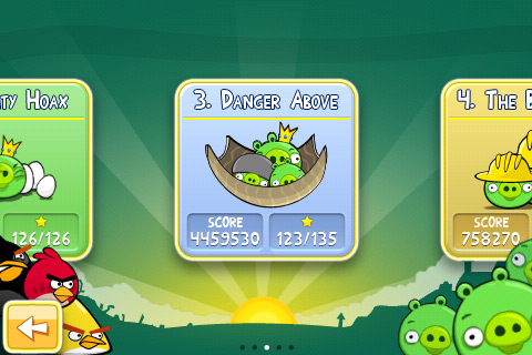 Angry Birds Danger Above 3-star video walkthroughs