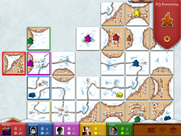 Carcossonne's upcoming Winter Edition has more cards, a new character, and lots of snow