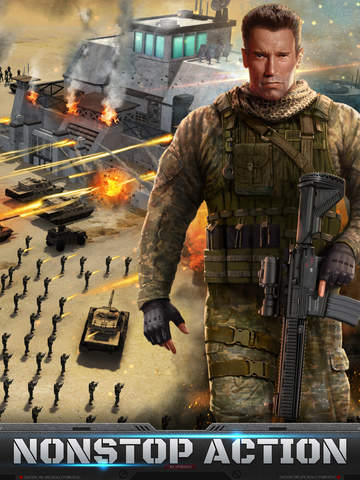 Arnie is the face of a new iOS and Android strategy battler from the dev behind Game of War