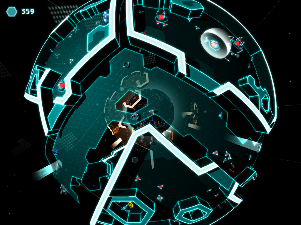 Backspace will have you blasting and puzzling your way out of a virtual network of spheres