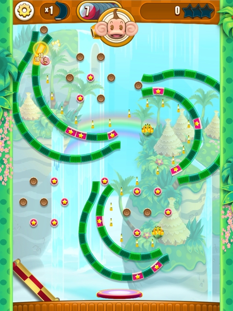 Super Monkey Ball Bounce is basically Peggle with monkeys for iOS and Android