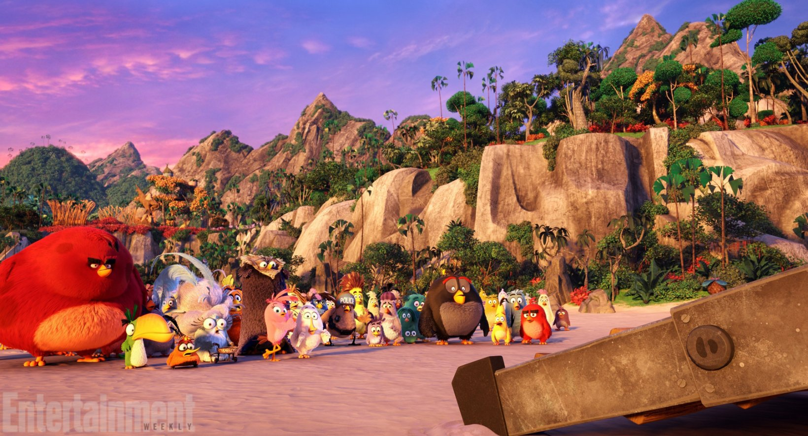 New images from the Angry Birds movie show off a pig dad