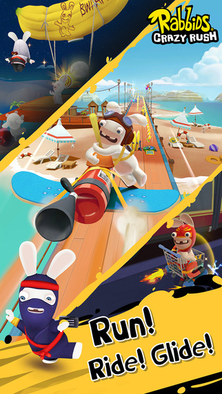 Rabbids Crazy Rush is an unannounced level-based runner with crazy vehicles, soft launched now