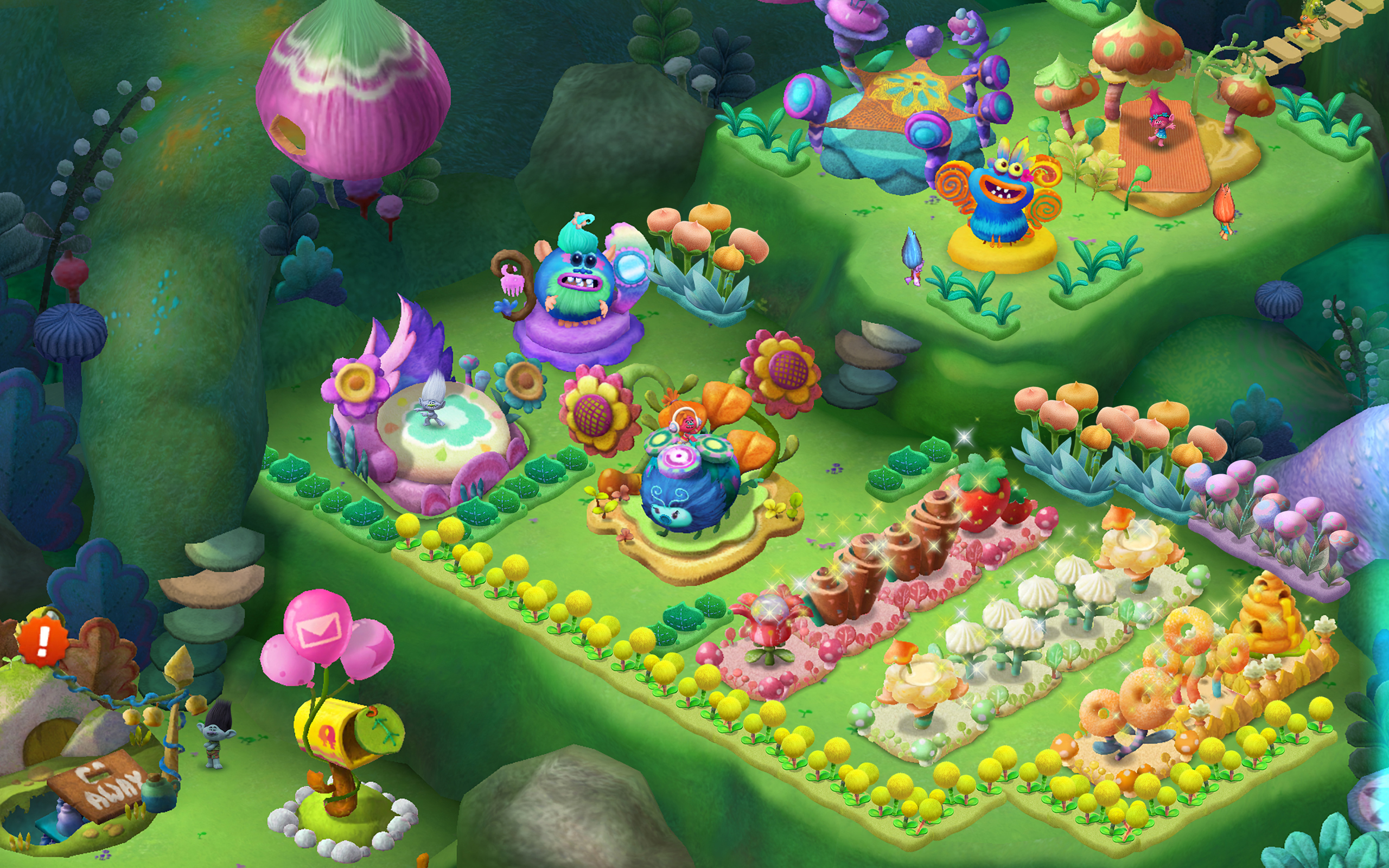 DreamWorks's Trolls movie has a mobile game out now, features hair and doll parties