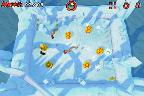 Chillingo's newest puzzler Powerslide Penguin out today for iPhone and iPad