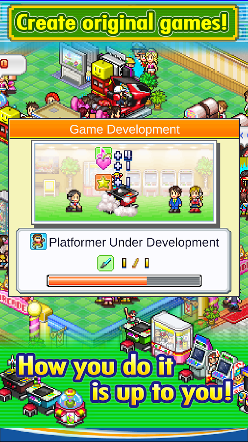 [Update] Kairosoft goes back to its roots with Pocket Arcade Story, now out on Android and iOS
