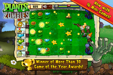 PopCap classic Plants vs Zombies receives an update on iPhone, including 2 new Zombie modes and Game Center leaderboards