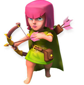 Archer - soldier stats and troop tactics in Clash of Clans