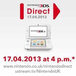 Nintendo to stream new Nintendo 3DS Direct announcement on April 17th