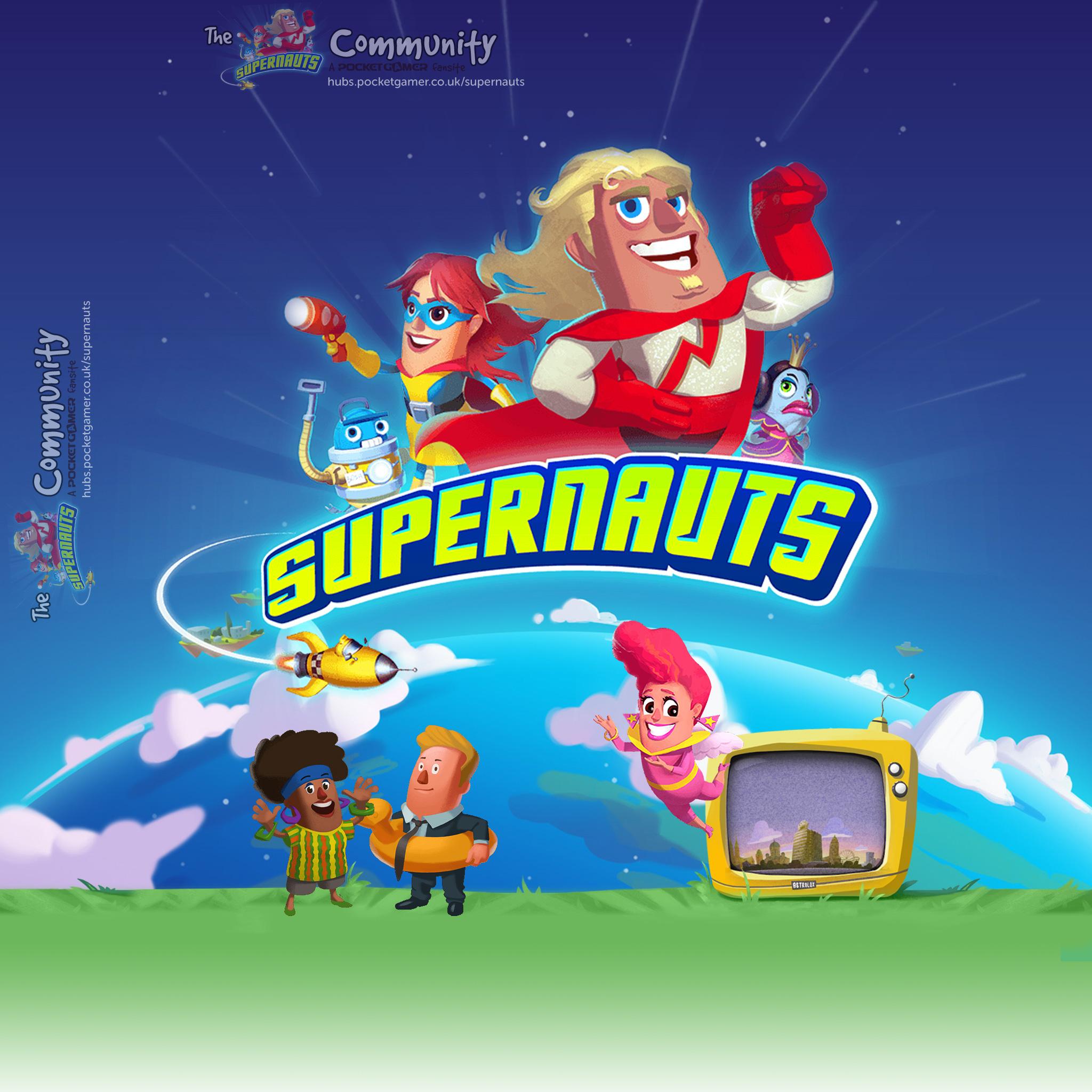 Supernauts iPad Wallpaper