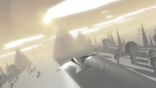 Out at midnight: Race the Sun is a minimalist arcade game about dying in darkness or a collision