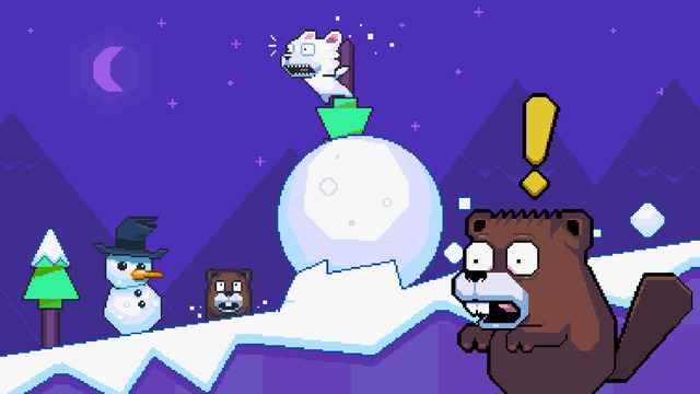 Roller Polar is a free, challenging endless arcade jumping game from Nitrome on iOS