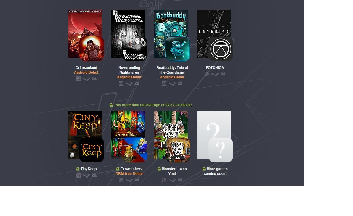 New Humble Bundle debuts three Android games