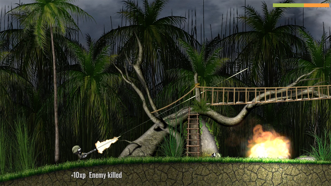 Stickman Battlefields brings the arcade action to the jungle